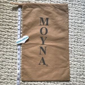 MOYNA Logo Purse Beaded Chain Clutch Dust Bag hobo